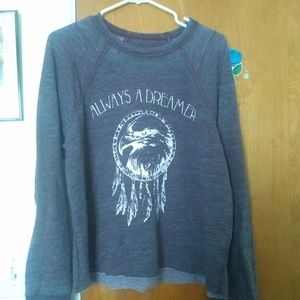 Purple Always a Dreamer Eagle Feather Sweater